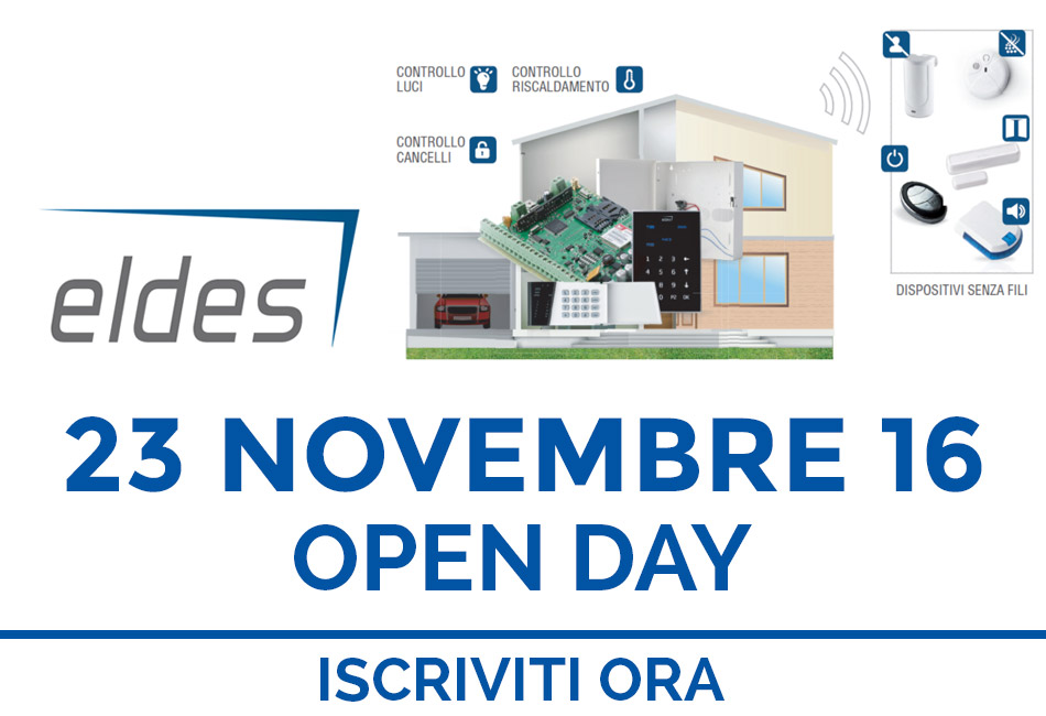 OPEN DAY ELDES 23 Novembre