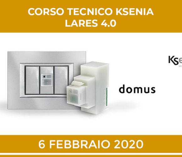 KSENIA LARES 4.0 CORSO TECNICO 6 FEBBRAIO 2020